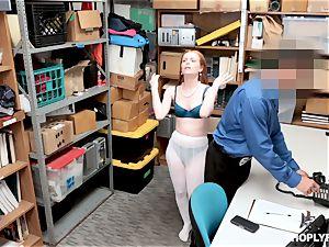 Ella Hughes boinked testicles deep by nasty mall cop