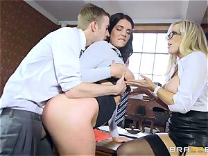 ample dicked tutor smashes sexy schoolgirl Emma Leigh