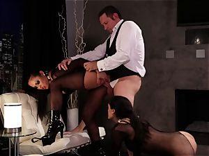 Adriana Luna and Chloe Amour have fun fantastic subs