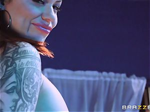 super-hot wax and monster stiffy for Karmen Karma