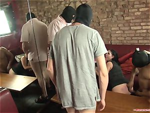 Michelle Thorne and youthful breezy gang-bang fuck with group