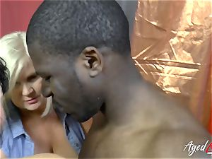 AgedLovE Lacey Starr interracial gonzo action
