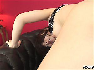 Sayuri getting a fuck-stick deepthroat chow down and get screwed