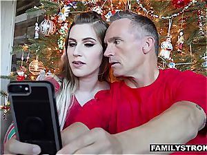 Niki Snow gets a pulverizing for Christmas from her dad