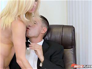 Alexis Fawx and Parker Swayze getting bashed by huge man-meat in the office