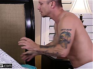 big-titted milf wakes up in stranger's building