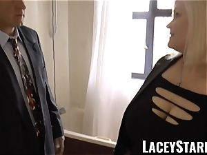 LACEYSTARR - Mature English stunner pounded and facialized