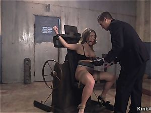Curvalicious brown-haired ravaged in sadism & masochism