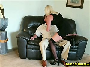 The Incall Series with crazy platinum-blonde