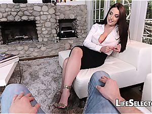 huge-chested mummy Angela milky loves sole fetish