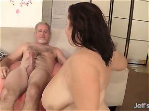 4 hefty and mischievous BBWs gonzo intercourse fuckfest