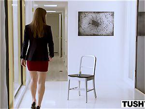 TUSHY secretary Makes Her boss Work For anal