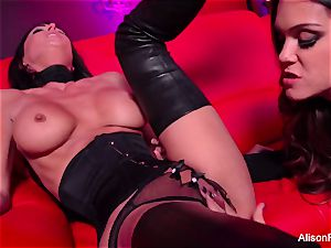 red room and steaming strap-on action
