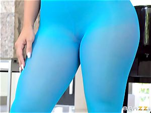 limber honey Kelsi Monroe is ripped out of her fantastic nylons