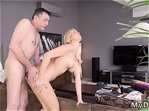 Twin partner s sisters blow-job sleepy dude missed how his daddy ravages his girlally