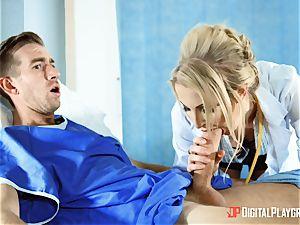 Nurse Georgie Lyall licks up patients monster manmeat