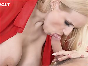 huge-titted milf teacher entices and plumbs college girl