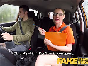 fake Driving school exam failure leads to super hot romp