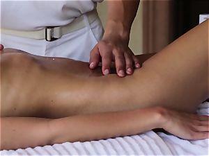 exclusive Nina Elle massage and stunning extras