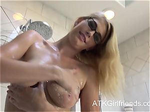 pov meeting with a internal cumshot for Allie James