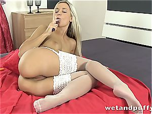Dido angel hot in white stocking