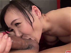 accomplish japanese hardcore bang-out with busty Miu Watanabe