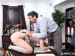 ultra-kinky schoolgirl Lena Paul romped by headmaster