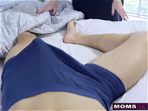 Step-Mom Wakes Sleeping sonny For schlong And internal ejaculation
