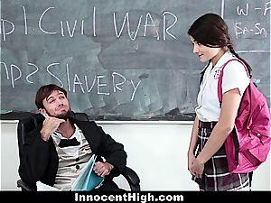 schoolgirl pressured to fuck