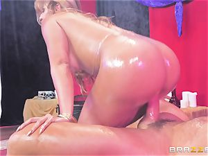 Oiley Mercedes Carrera poked ample time by ginormous cock