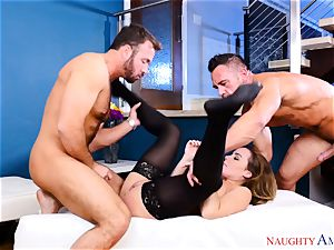 Natasha lovely toying with two penises