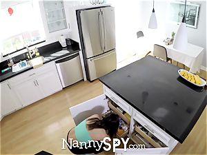 NannySpy Raspy expressed babysitter Abella Danger banged
