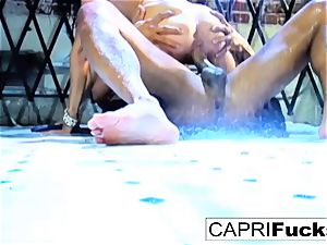 bombshell Capri gets screwed stiff by Keni