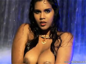 black-haired babe From insane India