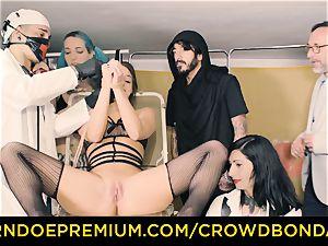 CROWD bondage subordinated Amirah Adara first-ever time bdsm