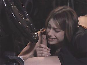 Camgirl part 2 - nice Kristen Scott inhaling in the car