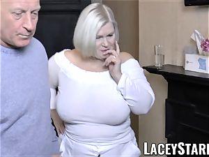 LACEYSTARR - buxomy GILF negotiates a fine vag deal