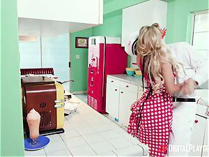 Milkman pounds Pin-Up housewife Kayla Kayden