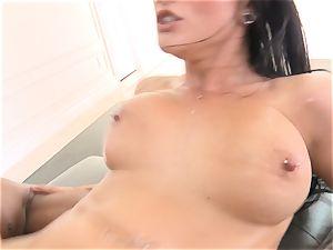 Creaming inside marvelous black-haired Katrina Jade