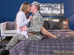 Dane Jones firm sucking and plumbing muddy Army wife