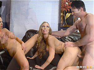 Nicole Aniston and Nikki Benz humped from the rear