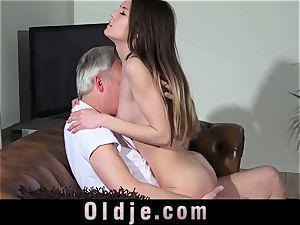 grandpa vulva humping nubile Pierced Tongue facial cumshot jizz