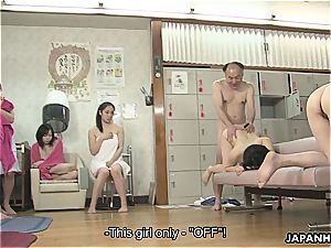 japanese supersluts are getting banged in a super-steamy spa