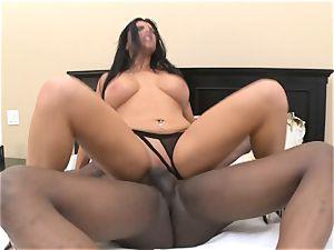 Romi Rain takes phat ebony penis in her wet slot