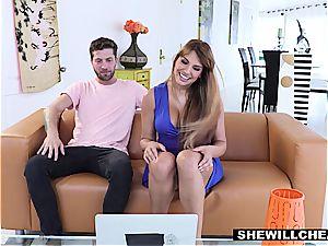 SheWillCheat - fortunate Kid porks steamy Latina milf