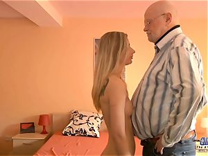 youthful secretary pummels senior boy manager pokes magnificent chick