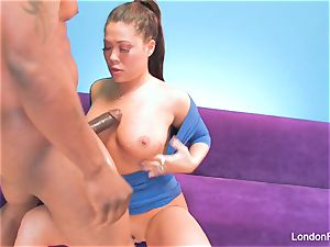 chinese pornstar London gets creampied by a big black cock