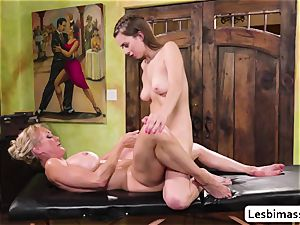 Brandi enjoy and Jill Kassidys red-hot climax with scissor fuck-a-thon