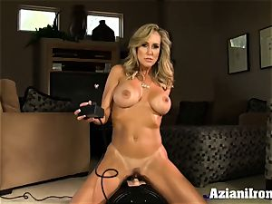 Brandi love rails the sybian naked