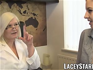 LACEYSTARR - GILF heals patient with lezzy ejaculation